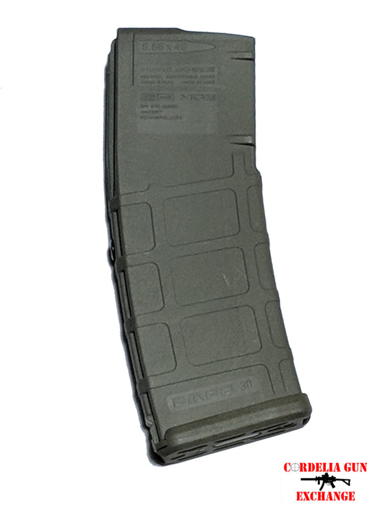 The Magpul 10-30 556mm ODG AR15 Magazine is legal in California, New York, Connecticut, DC, Maryland and Massachusetts! Available from Cordelia Gun Exchange!