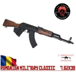 The Lee Armory Romanian AK47 762x39 Military Classic Featureless AKM Style Rifle is available in California from Cordelia Gun Exchange!
