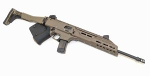 California Compliant Tan CZ Scorpion EVO 3 S1 Carbine 9MM FDE. Available from Cordelia Gun Exchange.