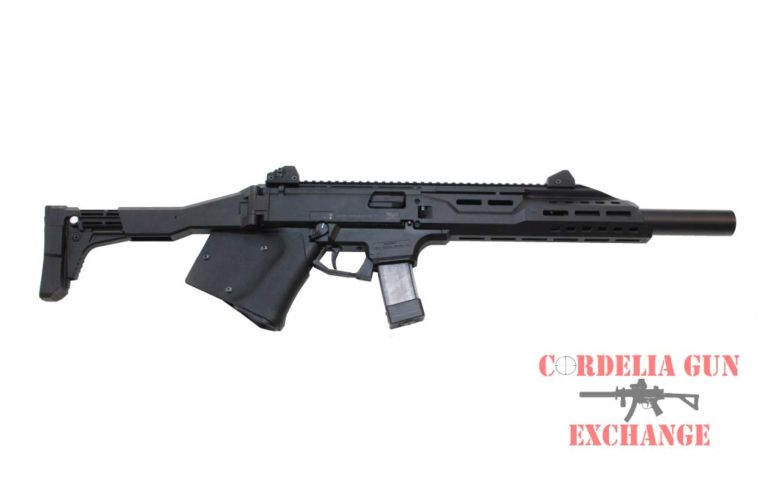 The CZ Scorpion 9mm Carbine FAUX Suppressor is legal in California! It is available from Cordelia Gun Exchange!