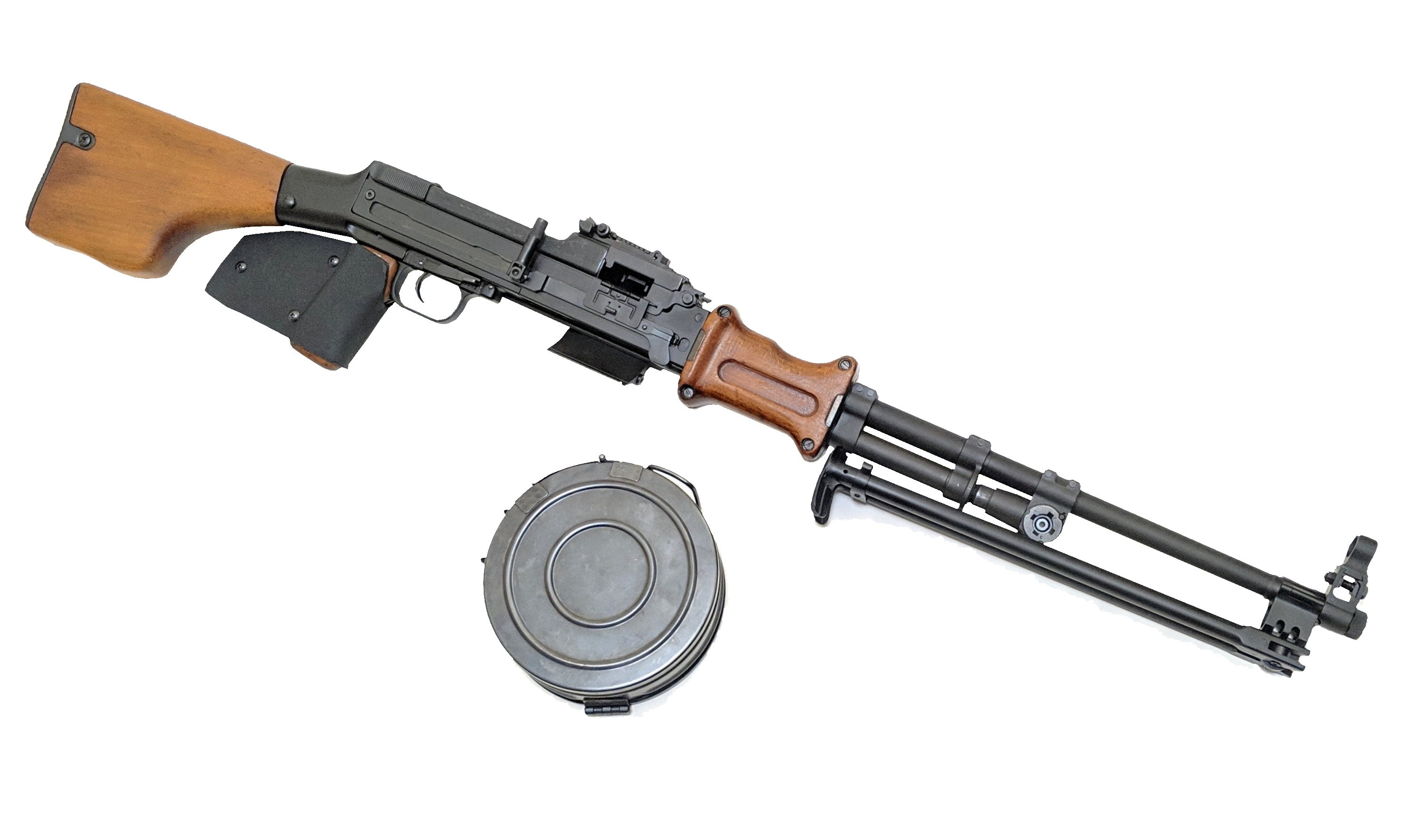 The semi auto Featureless DSA RPD 762x39mm rifle is the most cost effective belt fed for California! It uses the very affordable 7.62x39 round. Available from Cordelia Gun Exchange!