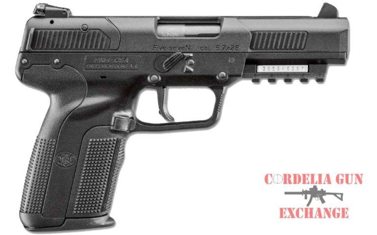 The FN Five-seveN 57x28MM Black pistol is available in California from Cordelia Gun Exchange!
