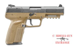 Tan FN Five-seveN FDE 5.7x28MM Pistol. Available from Cordelia Gun Exchange.