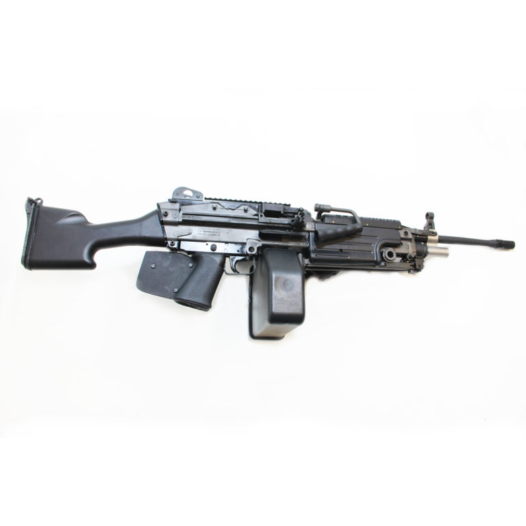 The FN M249S SAW 5.56mm Belt Fed semi-automatic light machine gun is available in California from Cordelia Gun Exchange!
