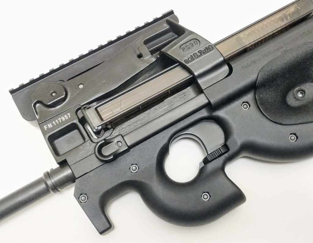 Own the FN PS90 5.7x28MM Black Rifle in California! The FN PS90 is an unconventional weapon with a futuristic appearance!