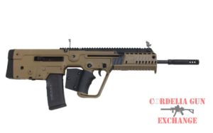 California legal Tan IWI TAVOR X95 5.56mm 223REM FDE Bullpup Rifle. Available from Cordelia Gun Exchange.