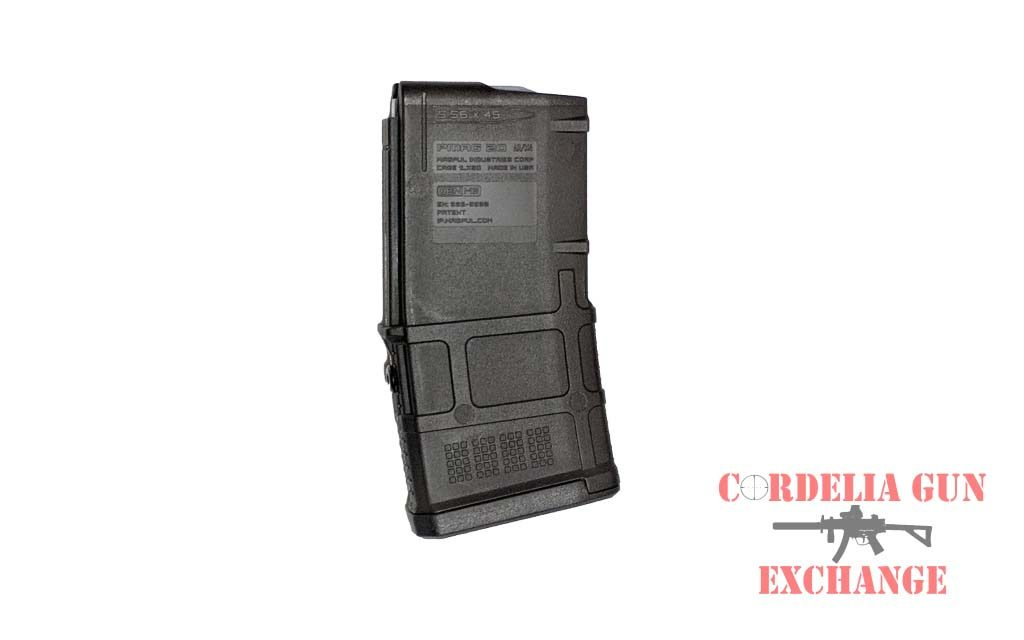 The Magpul 10-20 AR15 556mm Magazine is legal in California, New York, Connecticut, DC, Maryland and Massachusetts! Available from Cordelia Gun Exchange!