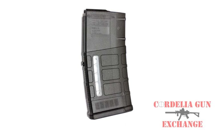 The Magpul 10-25 Window 308WIN AR10 Magazine is legal in California, New York, Connecticut, DC, Maryland and Massachusetts! Available from Cordelia Gun Exchange!