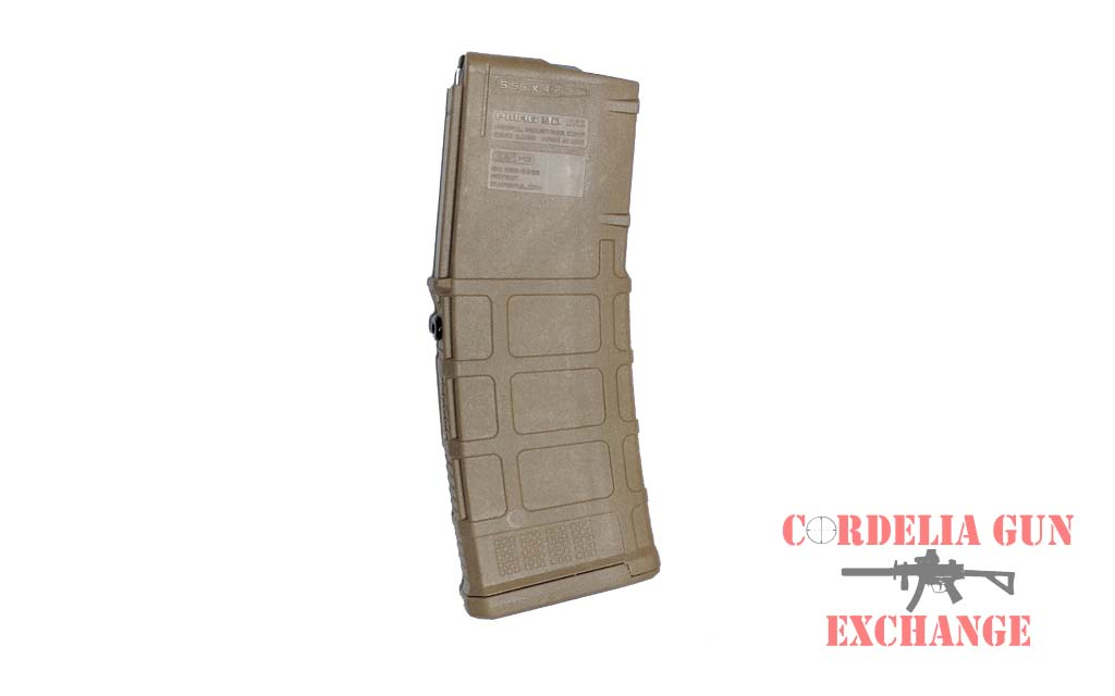 Magpul 10-30 AR15 556mm Coyote Tan Magazine is legal in California, New York, Connecticut, DC, Maryland and Massachusetts! Available from Cordelia Gun Exchange!