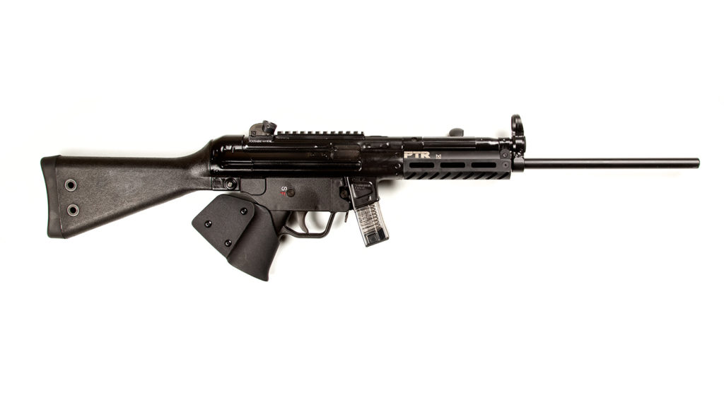 CA legal PTR 9R 9mm MP5 style rifle