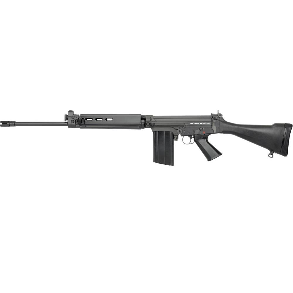 The DSA SA58 FAL 21 Inch Medium Contour Barrel 308WIN / 7.62 NATO rifle is California Legal and includes a featureless grip-wrap and 10/20 Magazine!