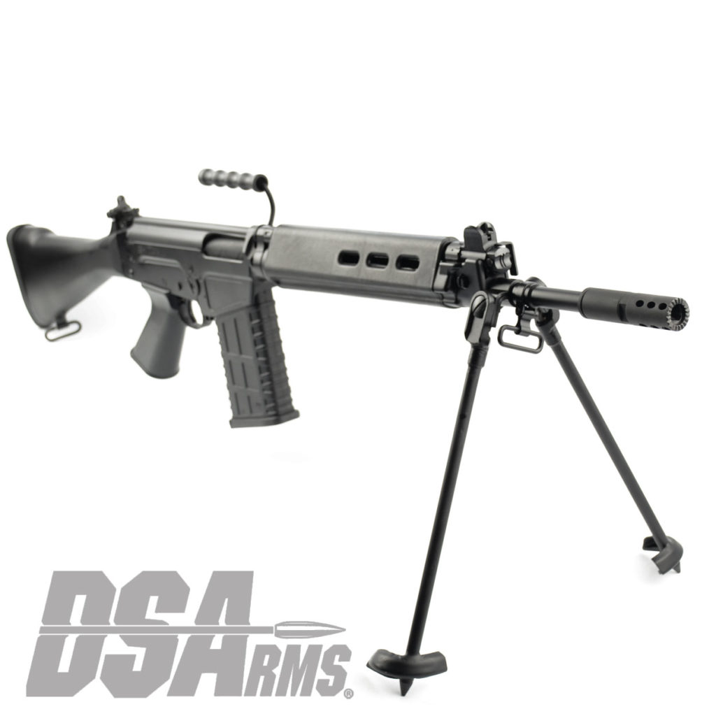 The DSA SA58 FAL 18 Inch Traditional Carbine 308WIN classic exceeds the quality of any FAL type rifle ever produced as a Featureless CA Legal Rifle!