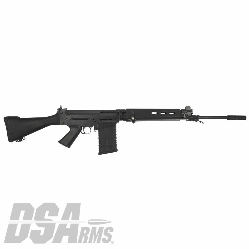 California compliant DSA SA58 Classic FAL .308 WIN / 7.62 NATO rifle with fixed stock and 21 inch traditional profile barrel.