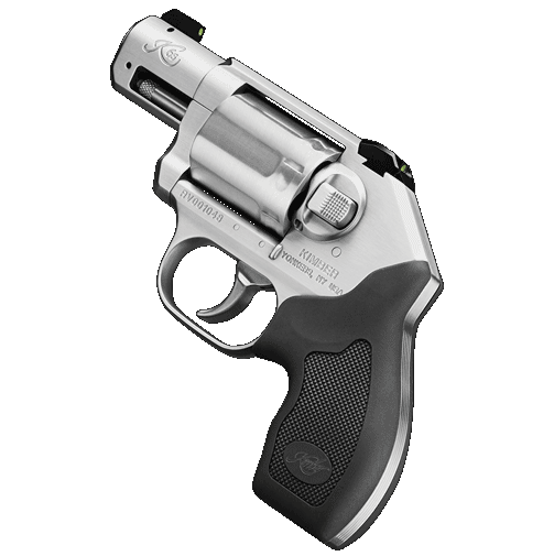The Kimber K6s Stainless 357MAG NS is the world's lightest production 6-shot .357 Magnum revolver, featuring superior ergonomics, smooth match-grade trigger, black rubber grip, low-glare brushed stainless finish, and 3-dot tritium night sights.