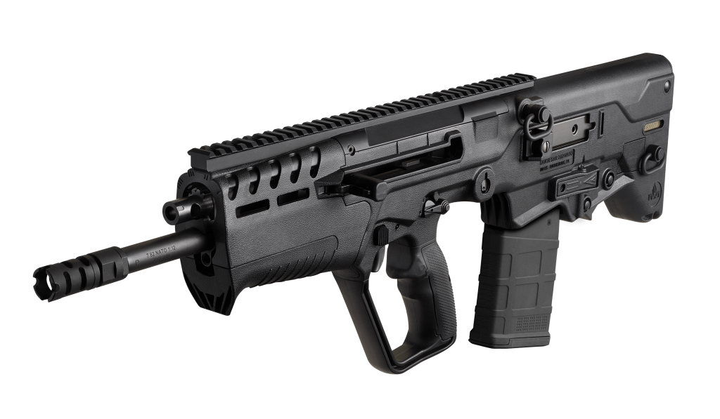 California legal IWI Tavor 7 308WIN black Finally available in California in a featureless configuration, the Tavor 7 brings .308 firepower to the smallest possible package!