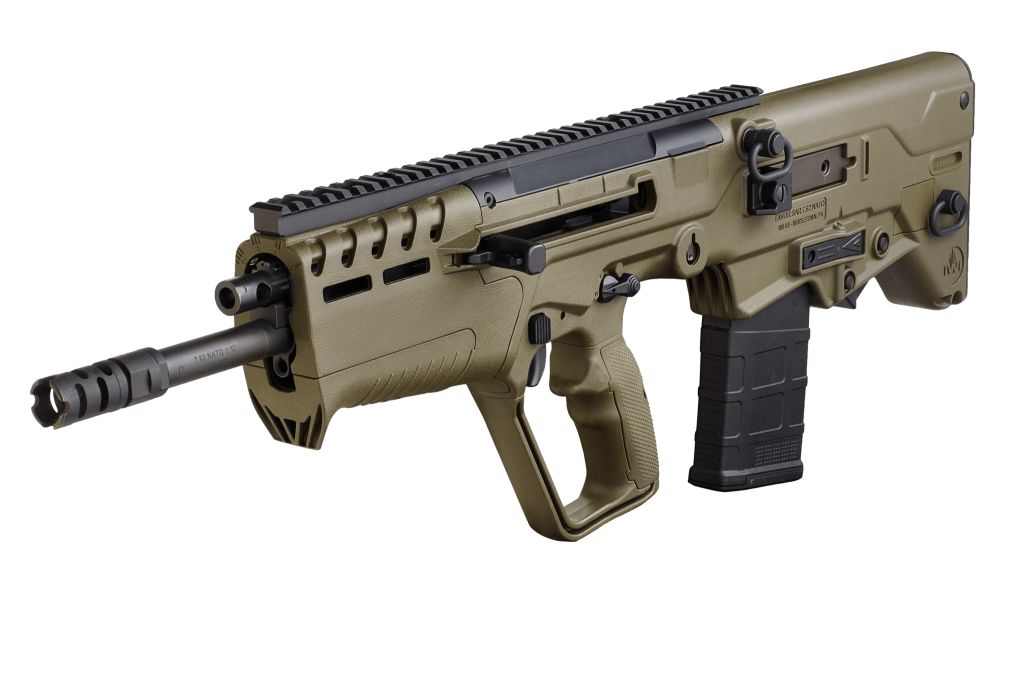 California legal IWI Tavor 7 308WIN ODG Finally available in California in a featureless configuration, the Tavor 7 brings .308 firepower to the smallest possible package!
