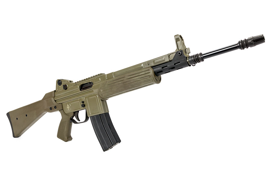 Marcolmar Cetme-L 5.56mm Green Rail CA legal The Cetme-L is a unique roller-locked rifle that is a must have in your collection!  Takes metal AR15 magazines!