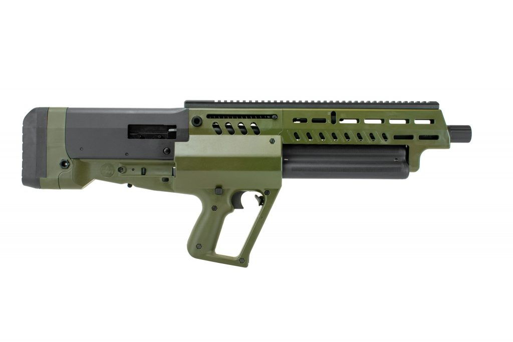 IWI Tavor TS12 12GA ODG The Tavor TS12 12GA ODG shotgun is any gun lovers dream. By innovating its feeding system, the shotgun can potentially hold 15 rounds plus one more in the chamber. The TS12 has a compact design that allows for great versatility and will be great for compact sporting or home defense.