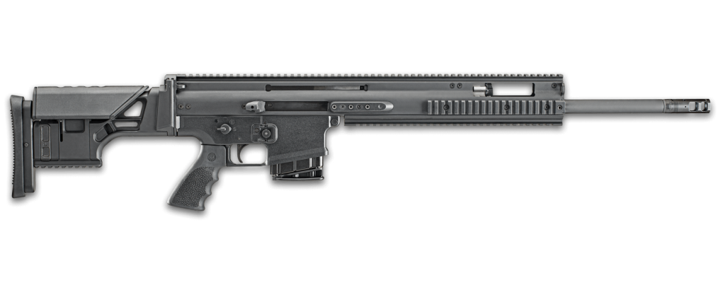 FN SCAR 20S BLK 308 WIN rifle! Get the perfect DMR in the FN Herstal SCAR 20S BLK 308 now! Available in California from Cordelia Gun Exchange in a featureless configuration!